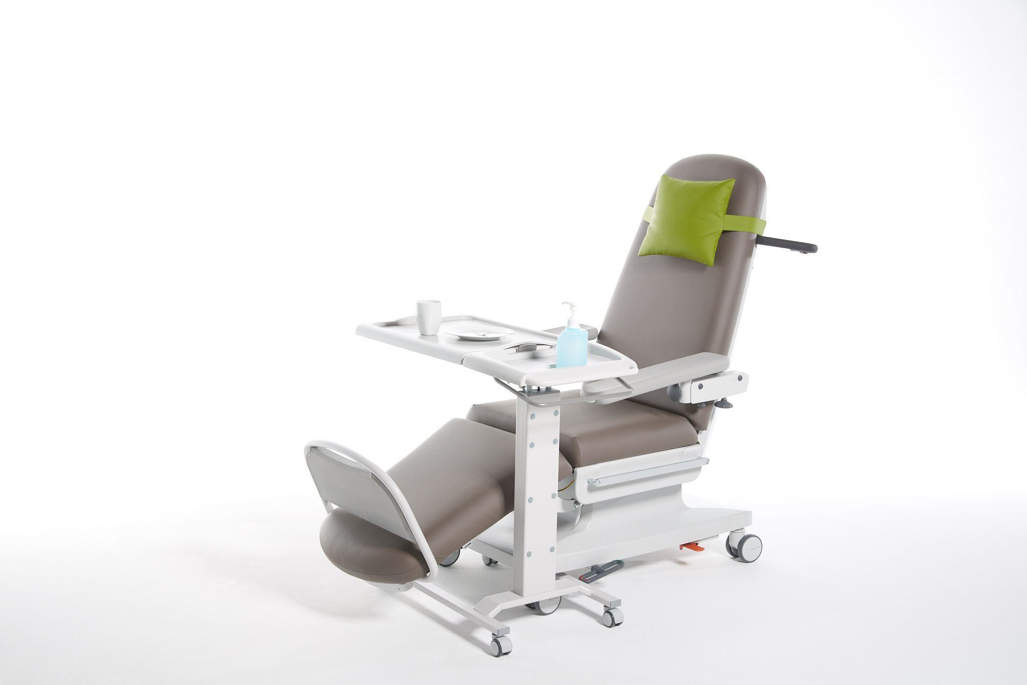 Sengebord til behandlingsstol