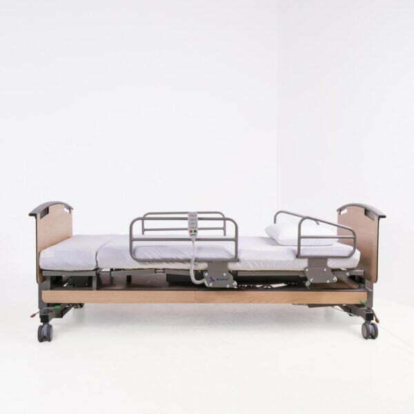 Rotoflex drejeseng med sengeheste i metal