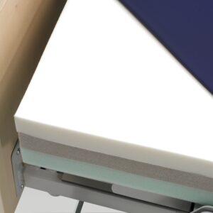 Trykaflastende madras til drejeseng rotoflexseng