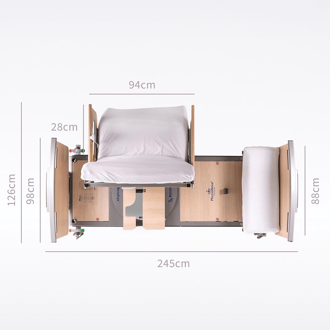 Placering af RotoFlex Design Drejeseng